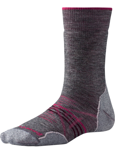 Smartwool PhD Outdoor Medium Crew Socks Women Medium Gray